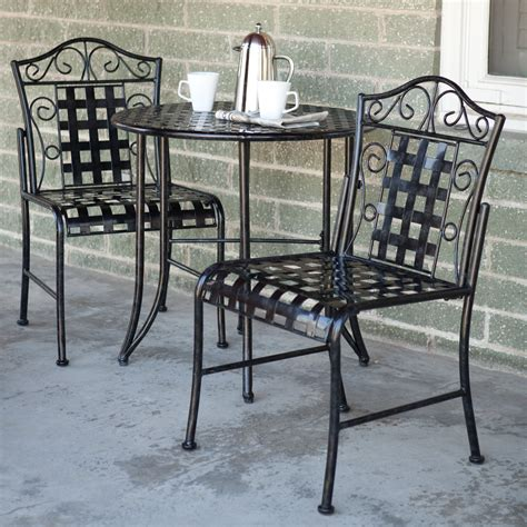 bistro table and chairs ikea international caravan mandalay pc iron patio bistro set