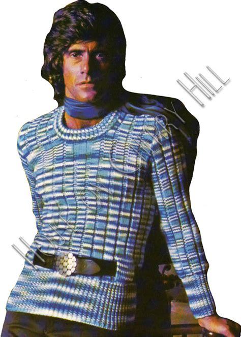 mens sweater pattern pdf pattern 70s mens by houseoncherryhill