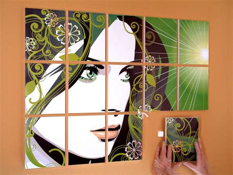 how to hang art prints how to install a panel poster with grid spacing