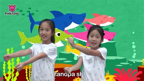 baby shark youtube dance cute korean sisters doing the baby shark dance by pink