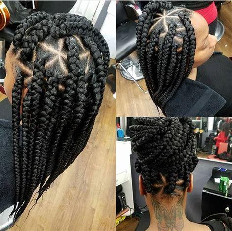 box braids with bigger parts box braids natural hairstyles protective hairstyles