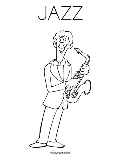jazz music coloring pages jazz coloring page twisty noodle