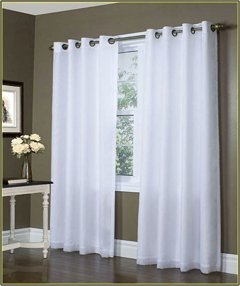 grommet curtains with sheers grommet blackout curtains white home design ideas
