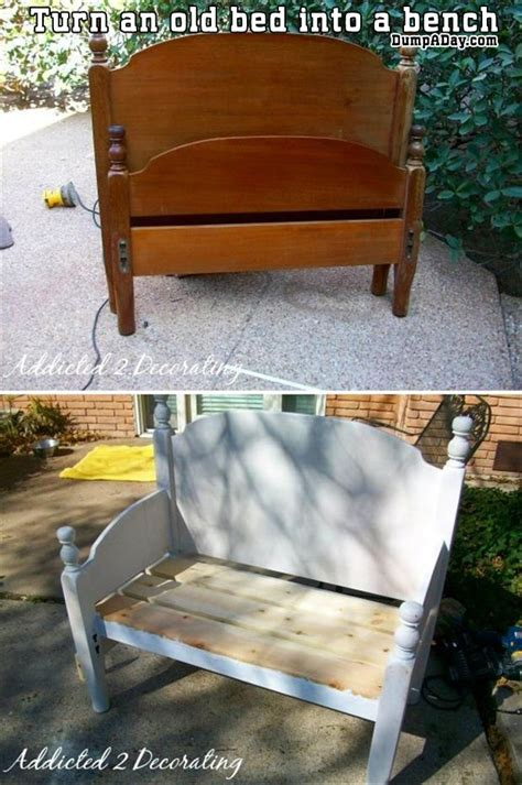bed into bench a turn an old bed into a bench dump a day
