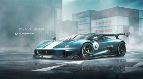 renders produced of the jaguar supercar dropped so the