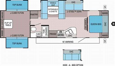 rv bunkhouse floor plans quad bunk travel trailer floor plan google search