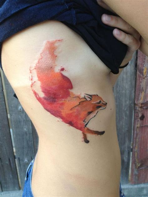 tattoo gallery san clemente watercolor fox by britta christiansen at living art