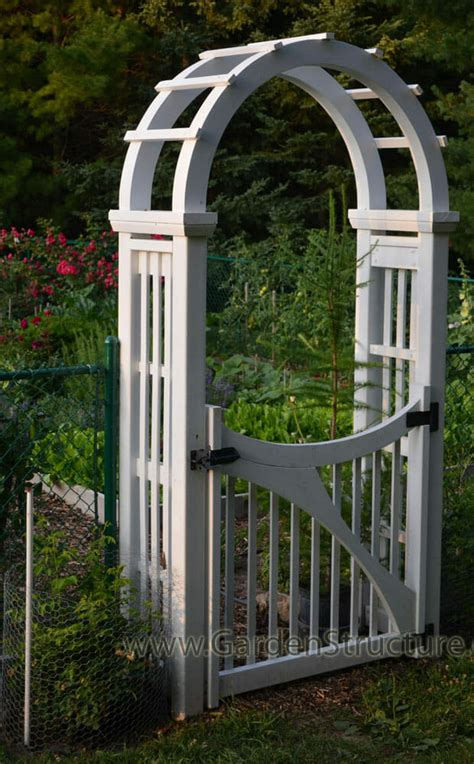 garden arch plans laminated arched garden arbor with gate
