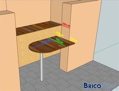 Table Fixee Au Mur Pliante