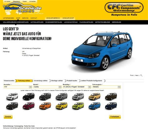 Auto Folieren Online Konfigurator by Firmenportrait Cfc Stylingstation Car Akustik Neuss