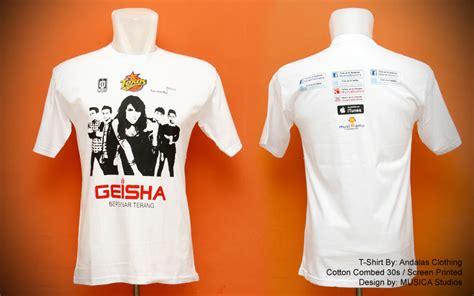 sablon kaos launching album geisha sablon kaos bordir