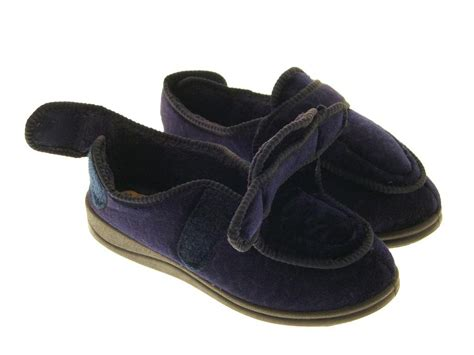 diabetic house shoes womens diabetic slippers fully adjustable wide shoes comfort orthopaedic size ebay