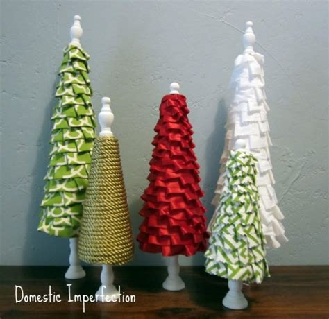 no sew ruffle trees 100 days of homemade holiday