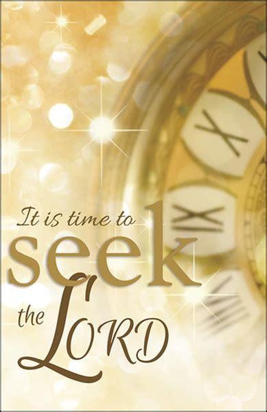 "Church Bulletin 11""   New Year   Seek The Lord (Pack of 50)"
