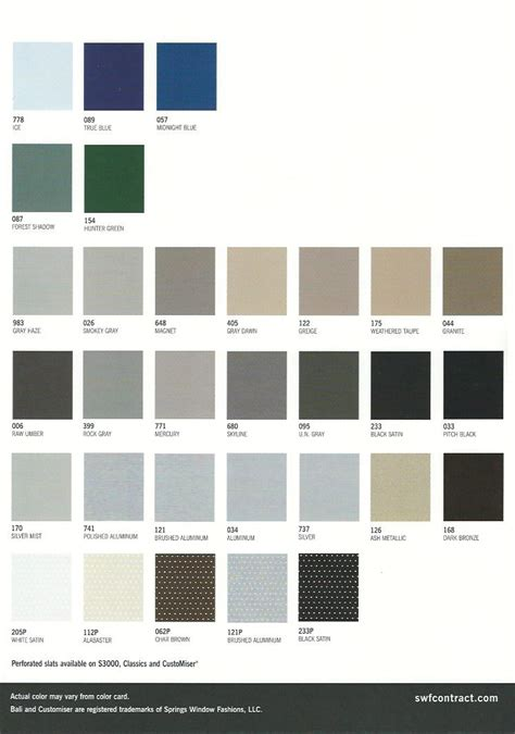color blind chart horizontal blinds color chart commercial drapes and blinds