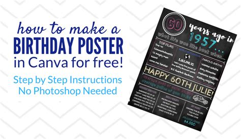 canva making poster how to create a birthday poster using canva our home
