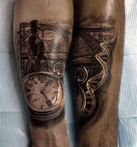 3d realistic pocket clock tattoo design tattooshunter com