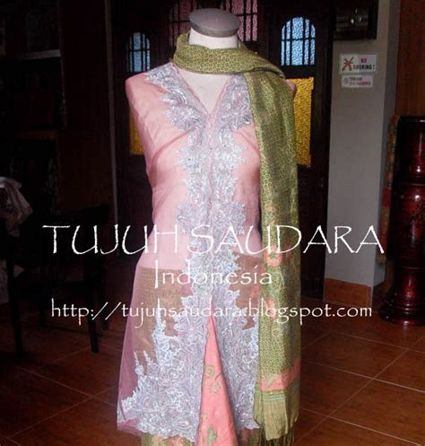 Atasan Kebaya Bordir Pink 001 by Songket Palembang Batik Palembang And Many More By Tujuh