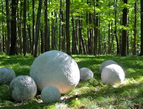 Backyard With Balls Ashbee Design Photographic Study Of Concrete Spheres