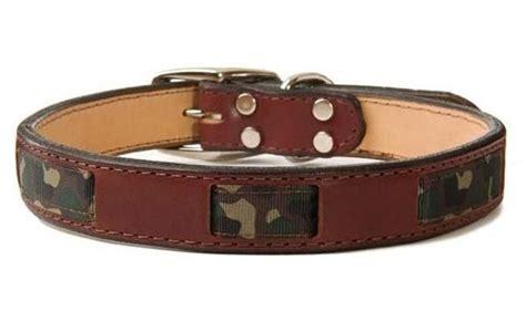 tough collars leather collars brown camo collar w ribbon