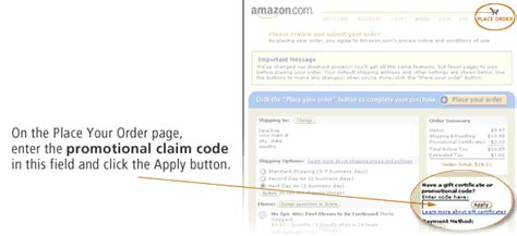 Gift Card And Promotional Code For Amazon - amazon com how to use promo codes