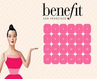 Calendrier De L Avent Maquillage Benefit Benefit Cosmetics Calendrier De L Avent 2016