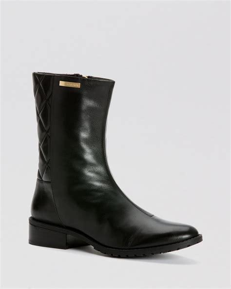 klein boots calvin klein boots rene quilted in black lyst