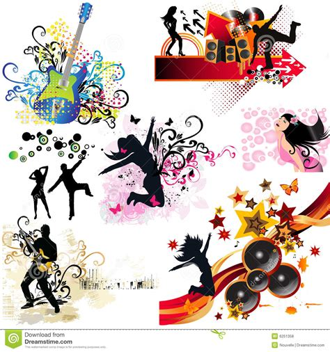 design elements of a play music design elements royalty free stock photos image