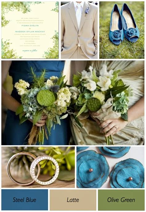 green and blue wedding theme flowers http refreshrose