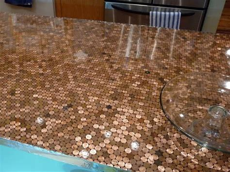 penny bar top diy high heels and diet dr pepper a penny for your countertop