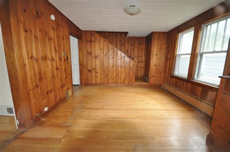 Painting Knotty Pine by Sopo Cottage Dining Room And Foyer Before And After