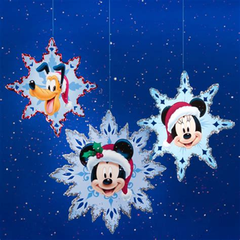 printable disney ornaments mickey friends christmas snowflakes disney family