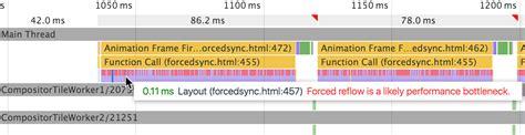 javascript layout thrashing analyze runtime performance tools for web developers