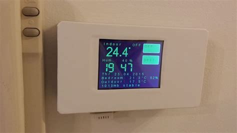 diy wireless thermostat esp8266 wifi touch screen thermostat discover more ideas