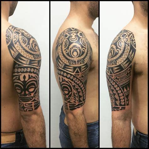 tattoo tribal ombro e braço tatuagem feita em 4 sess 245 es duas para ombro e duas para
