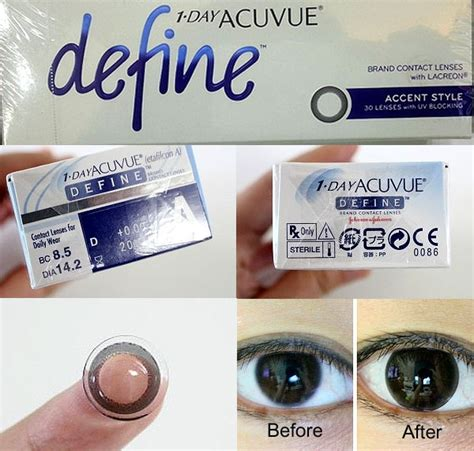 acuvue new define accent style 12 5mm 90pk circle lens color contact kpop2