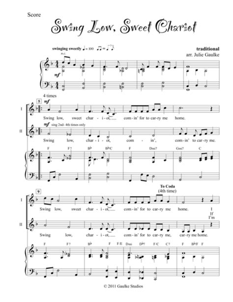 swing music download download swing low sweet chariot sheet music by