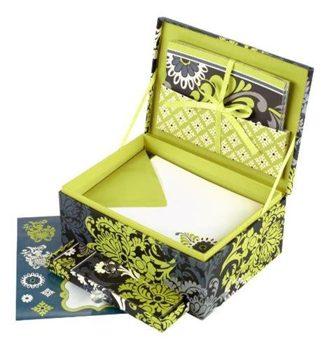 Bon Bon Box Fancy Stationery Box vera bradley mail box stationery desk set in baroque reviews stationery paper