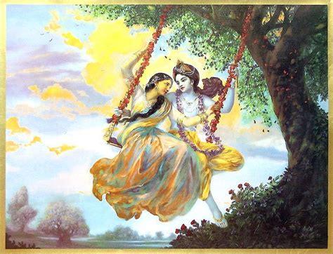 radha krishna swing radha krishna in a swing