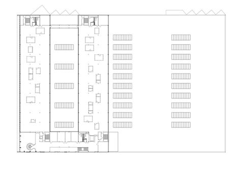 production floor plan new office and production building burckhardt partner archdaily
