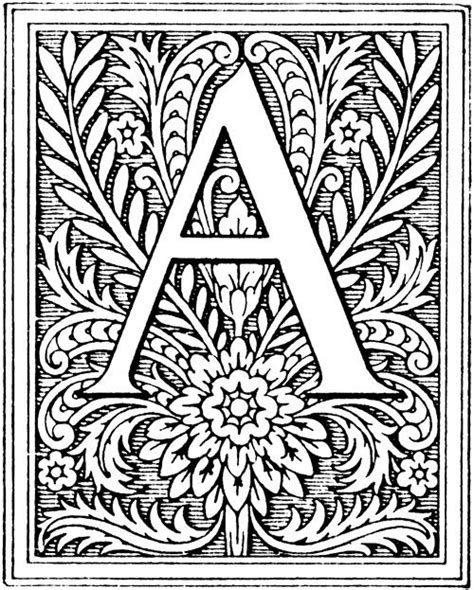 printable illuminated letters alphabet illumination letters and flowers back to more letter art