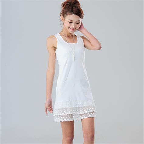Tank Dress Plus Size White by Aliexpress Buy Summer Black Gray White Lace Above