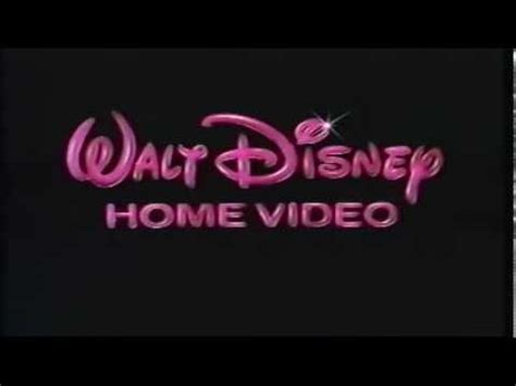 1986 walt disney home video logo aka youtube 1986 walt disney home video logo youtube