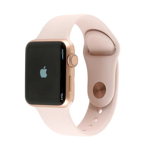 Apple Series 3 38mm Gold Aluminium Pink Sport apple series 3 gold aluminium with pink sand