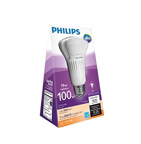 Philips 451906 100 Watt Equivalent A21 Led Light Bulb Soft Led Light Bulbs For Home 100 Watt Equivalent