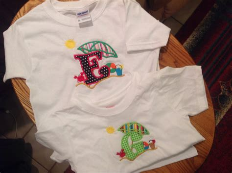 beach themed clothing kids t shirts with beach theme with appliqu 233 d initial