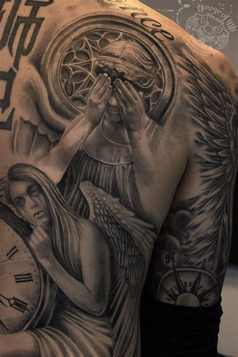weeping angel tattoo weeping doctor who mixed tattoos