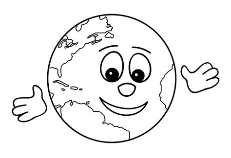cute earth coloring pages clip art cartoon pencil earth hug b w abcteach