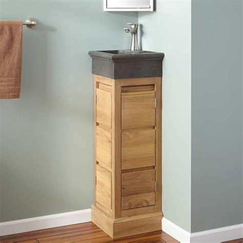 12 quot carina teak corner vanity natural teak teak vanities bathroom vanities bathroom
