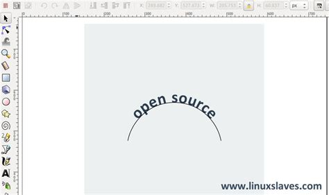 simple   curving text  inkscape vector graphic